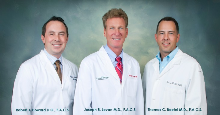 Picture of Dr. Robert Howard, Dr. Joseph Levan and Dr. Thomas Beetel of Spring Ridge Surgical Specialists
